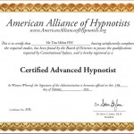 Certified Advanced Hypnotist